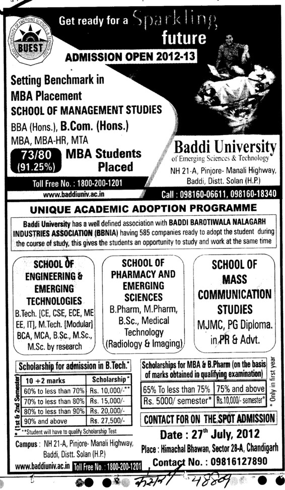 Unique Academic Adoption Programme (Baddi University of Emerging Sciences and Technologies)