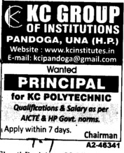 Principal (KC Group of Institutions)