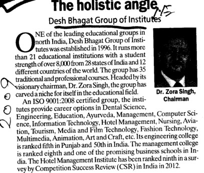 The Holistic Angle (Desh Bhagat Group of Institutes)