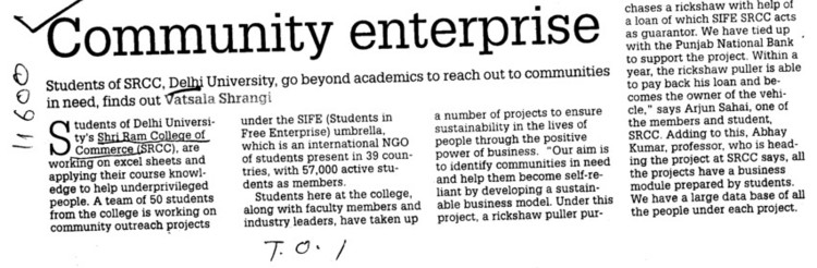 Community Enterprise (Shri Ram College of Commerce)