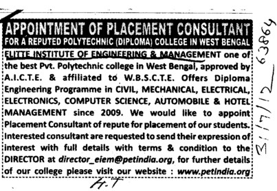 Diploma Engg Programmes (Elitte Institute of Engineering and Management)