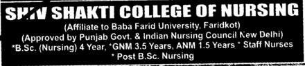 BSc Nursing and GNM Courses etc (Shiv Shakti College of Nursing)