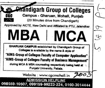 MBA and MCA Courses (Chandigarh Group of Colleges)