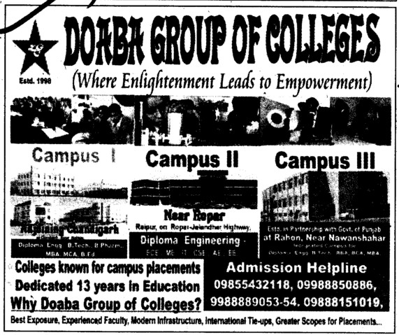 Where Enlightment leads to Empowerment (Doaba Group of Colleges (DGC))