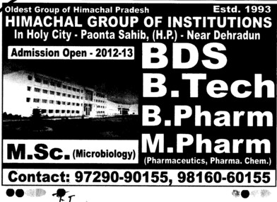 Himachal Group of Institutions Paonta Sahib Himachal Pradesh
