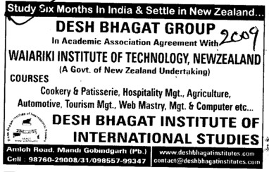 Study Six months in India and Settle in New zealand (Desh Bhagat Group of Institutes)