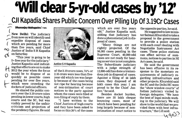 Will clear 5 yr old cases by 123 (Bar Council of India (BCI))