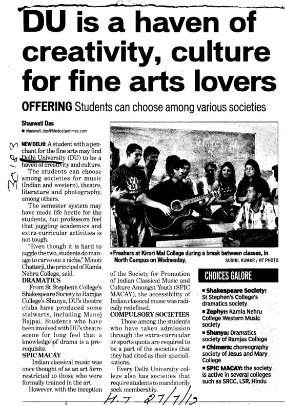 Du is a haven of creativity, culture for fine arts lovers (Delhi University)