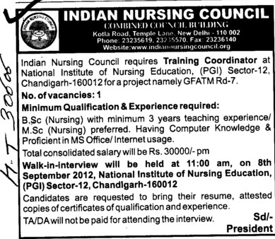 BSc Nursing and MSc Nursing Courses (Indian Nursing Council (INC))