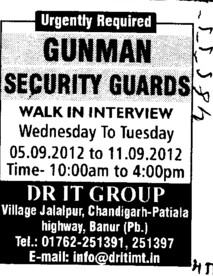Security Guards (Dr IT Group of Institutes)