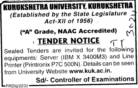 Various types of Equipments (Kurukshetra University)