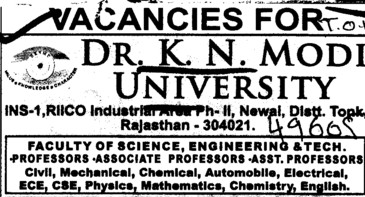 Prof, Asstt Professor and Associate Professor (Bharat Ratna Dr BR Ambedkar University)