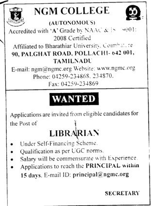 Librarian (NGM College)
