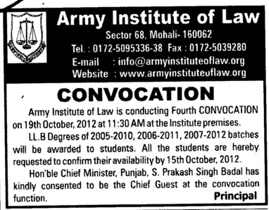 LLB Course (Army Institute of Law)