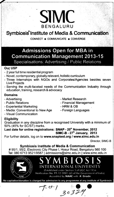 MBA in Communication Management (Dr DY Patil University)