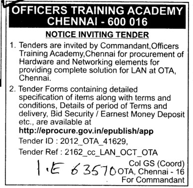 Hardware and Networking elements (Officers Training Academy)