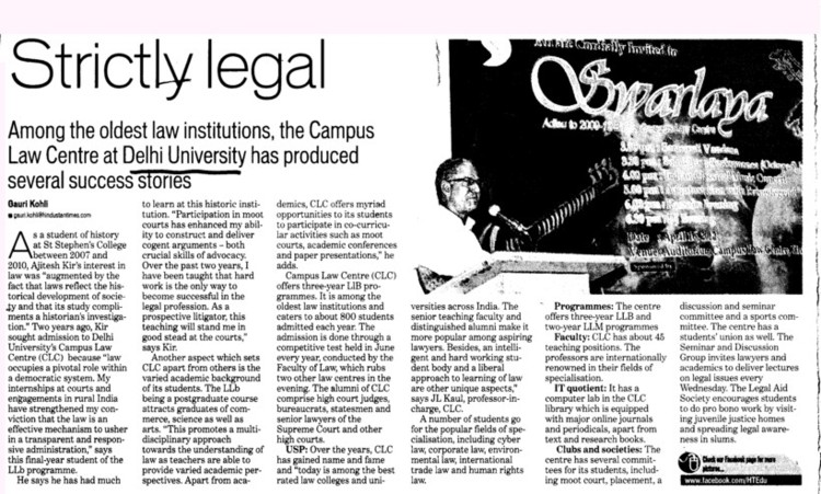 Strictly Legal (Delhi University)