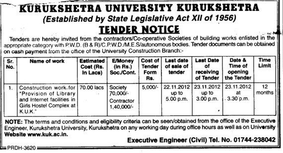 Const of Library (Kurukshetra University)