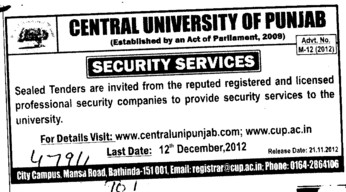 Security Services (Central University of Punjab)