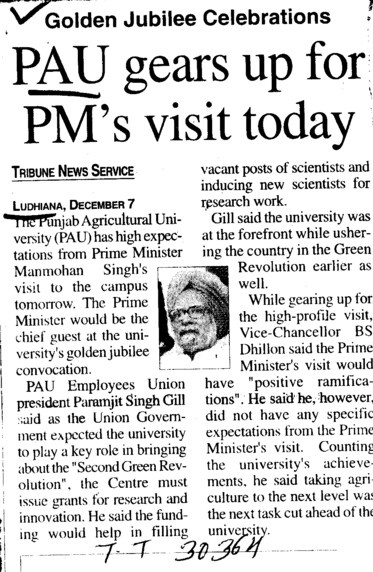 PAU gears up for PMs visit today (Punjab Agricultural University PAU)
