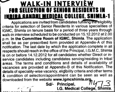 Senior Residents (Indira Gandhi Medical College (IGMC))