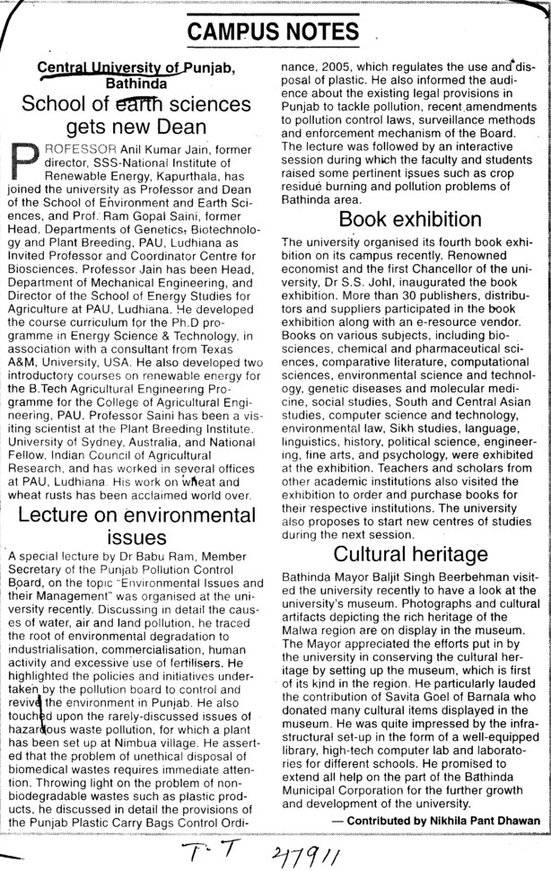 Books Exhibition and Cultural heritage (Central University of Punjab)
