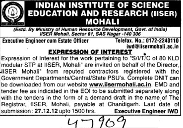 Work pertaining of KLD Modular (Indian Institute of Science Education and Research (IISER))