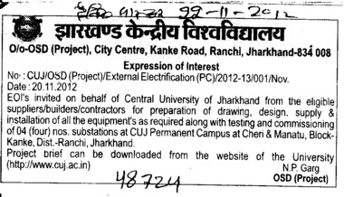 External electrification (Central University of Jharkhand)