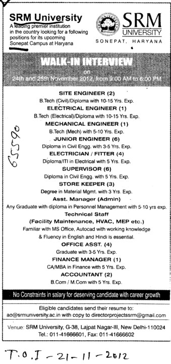 Electrical Engg and Mechanical Engg etc (SRM University)