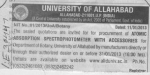 Atomic Absorption (University of Allahabad)
