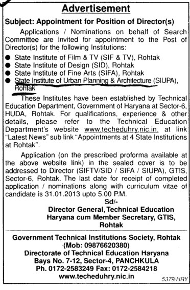 Director (State Institute of Urban Planning and Architecture SIUPA)