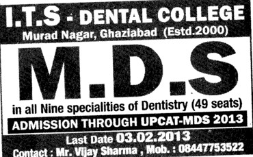 MDS Course (ITS Dental College and Hospital)