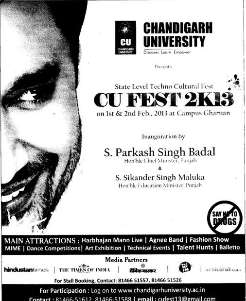 State Level Techno Cultural Fest 2013 (Chandigarh University)