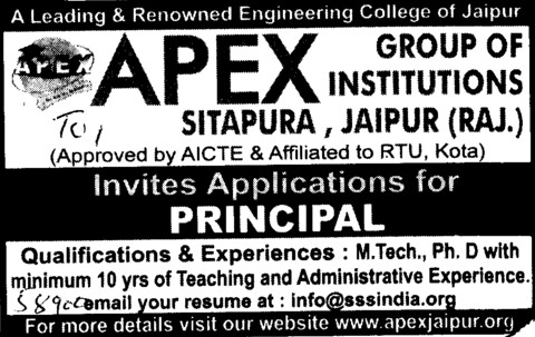 Principal (Apex Group of institutions)