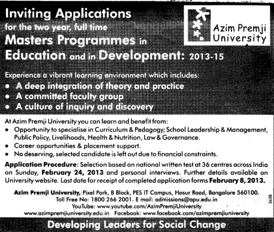 Master Program in ducation (Azim Premji University)
