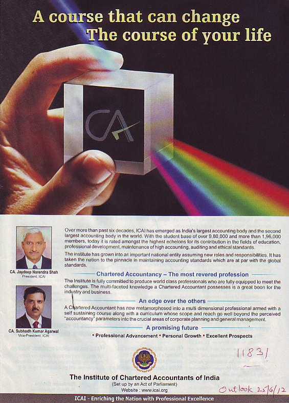 Message of President and VP of ICAI (Institute of Chartered Accountants of India (ICAI))