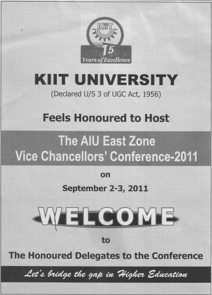 Feels honoured to host (KIIT University)
