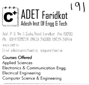 Adesh Engg College (Adesh Institute of Engineering and Technology (AIET))