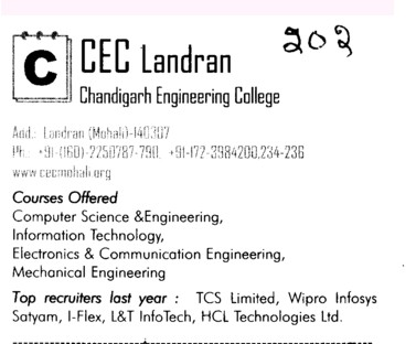 Chandigarh Engg College (Chandigarh Engineering College (CEC))