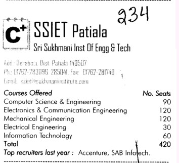 SS Engg College (Sri Sukhmani Institute of Engineering and Technology)