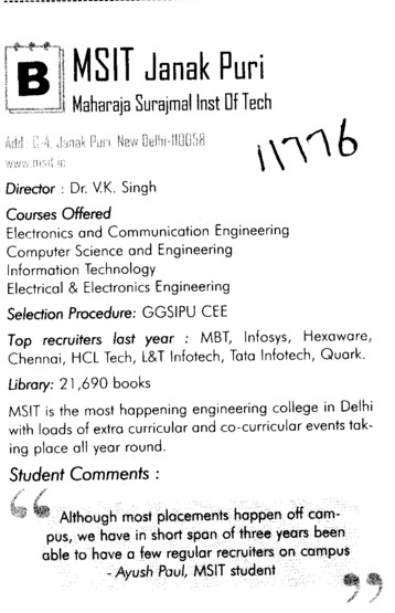 MS Engg College (Maharaja Surajmal Institute of Technology)