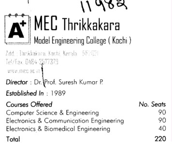 Model Engg College (Model Engineering College (MEC))
