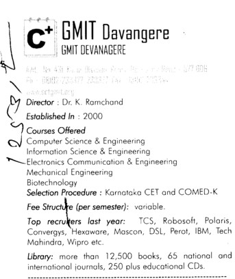 GMIT College (G Mallikarjunappa Institute of Technology (GMIT))