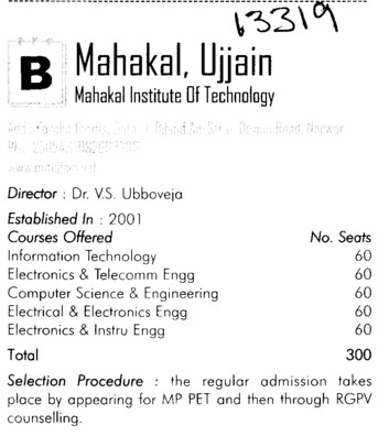 Mahakal Inst of Tech (Mahakal Institute of Technology)