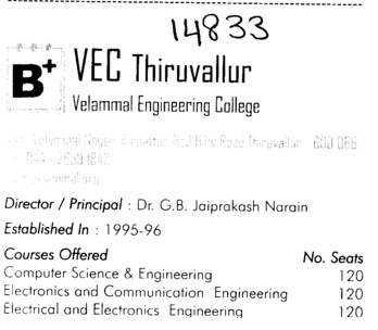 Velammal Engg College (Velammal Engineering College)