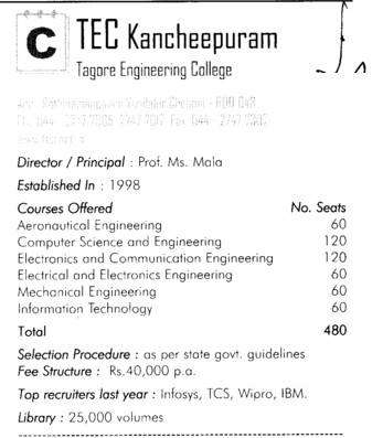 TEC Kancheepuram (Tagore Engineering College)
