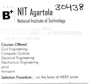NIT Agartala (National Institute of Technology NIT)