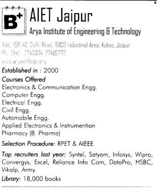AIET Jaipur (Apex Institute of Engineering and Technology (AIET))
