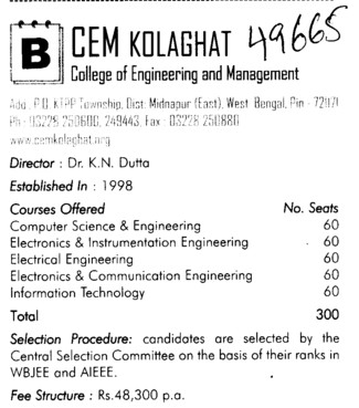 CEM Kolaghat (Greater Kolkata College of Engineering and Management)
