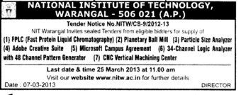 Adobe Creative Suite and Particle Size Analyzer etc (National Institute of Technology NIT)